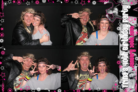 Photo Booth Express Custom Graphics - I Love the 80's