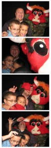Benny the Bull and friends in photo booth